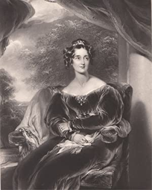 1845 Original Engraving the Countess of Wilton