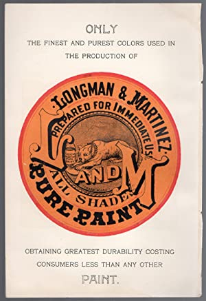 Original 1896 Color Advertisement for Longman & Martinez