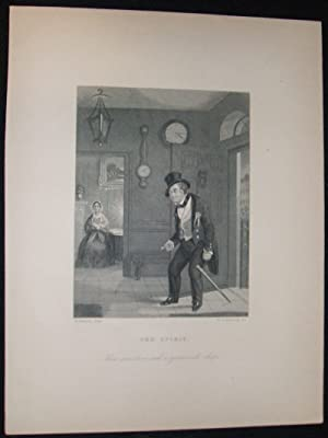 Original1870 Antique Engraving Titled the Spirit by R. Armstrong