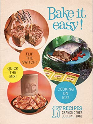 1961 Advertising Cookbook Bake it Easy 17 Recipes Gramother Couldn't Bake