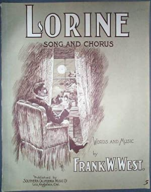 1904 Piece of Vintage Sheet Music Lorine Song and Chorus