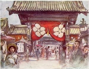 Original 1905 Print Leading to the Temple: Mortimer Menpes