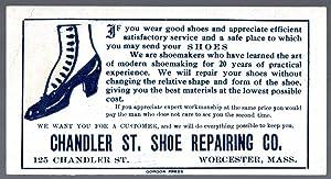 Vintage Advertising Ink Blotter for the Chandler: Chandler Shoe Repair