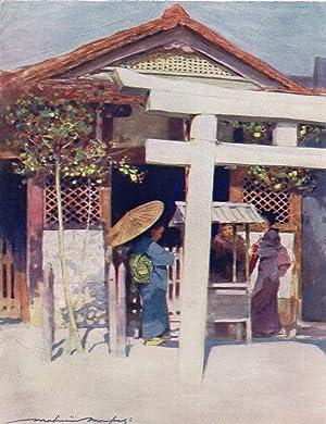 "Original 1905 Print ""A Sunny Temple"" by: Mortimer Menpes"