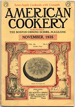 A Vintage Issue of the American Cookery Magazine for November 1935