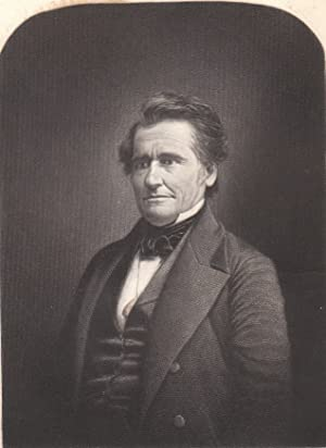 Original 1849 Steel Engraving of Joseph R. Chandler Statesman from Philadelphia, Pennsylvania