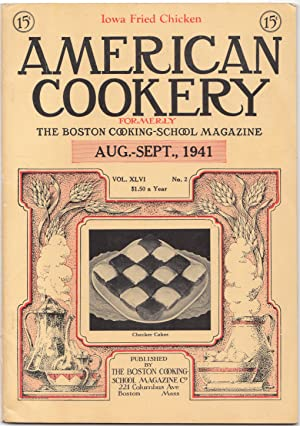 The Aug-Sept 1941 Issue of American Cookery Magazine