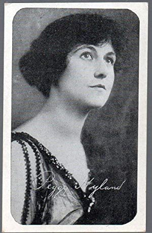 Original 1917 Kromo Gravure Photo Trading Card of Silent Flim Star Peggy Hyland