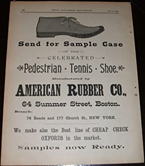 Original 1890 Full Page Illustrated Advertisement for American Rubber Company