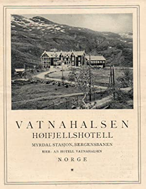 Vintage Illustrated Advertising Brochure for Vatnahalsen Mountain Hotel Norway