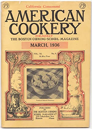 A Vintage Issue of the American Cookery Magazine for March 1936