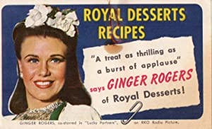 1940 Royal Desserts Recipe Book with Ginger: Standard Brands Inc