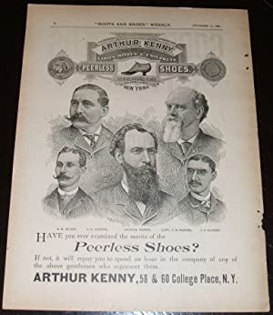 1890 Illustrated Advertisement for Peerless Shoes from Arthur Kenny