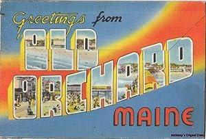 Panoramic View Old Orchard Beach Souvenir Folder: Ocean River News