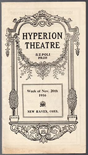 1916 Souvenir Theater Program for the Hyperion Theater New Haven Ct