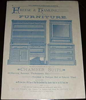 Original 1888 Illustrated Advertisement for Freese & Hamline Chamber Suits