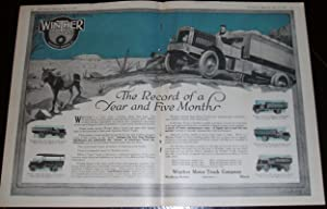 An Original 1918 Double Page Winther Motor Truck Illustrated Advertisement
