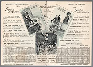 Original 1891 Advertising Calendar Customer Premium from: The Youth's Companion