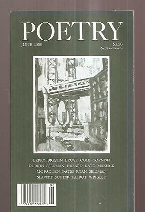 POETRY VOLUME CLXXVI [176] NUMBER 3 JUNE: Poetry) Parisi, Joseph