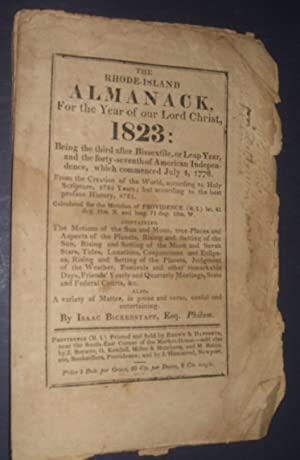 The Rhode Island Almanack For the Year of Our Lord Christ 1823