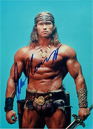 Signed Photo from Conan the Destroyer]: Schwarzenegger, Arnold