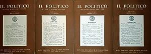 IL POLITICO RIVISTA DI SCIENZE POLITICHE DIRETTA DA BRUNO LEONI ANNO XXX 1965 4 VOLUMI COMPLETA: ...