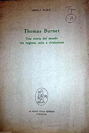 THOMAS BURNET UNA STORIA DEL MONDO TRA: MIRELLA PASINI