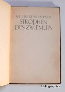 Strophen des Zwiemuts.: Niemeyer, Wilhelm: