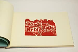 Roads, Rails, Bridges. Twenty-five hand-coloured linocuts. With texts by Florian Weissborn & ...