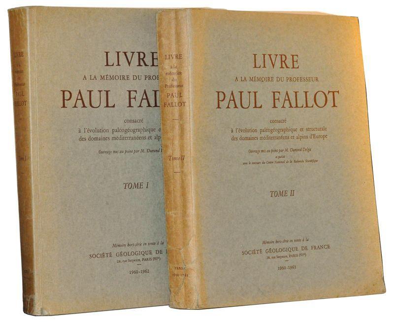 Livre A La Memoire Du Professeur Paul Fallot
