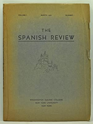 The Spanish Review: A Journal Devoted to Spanish and Spanish-American Culture, Especially in Its ...