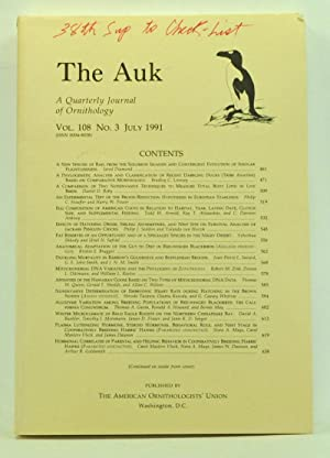 The Auk: A Quarterly Journal of Ornithology,: Brush, Alan H.