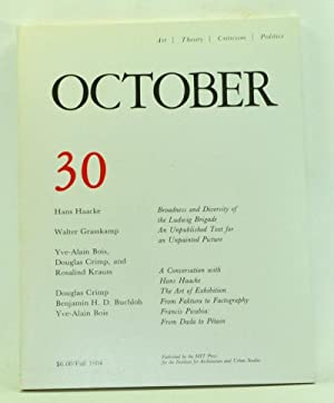 October 30: Art, Theory, Criticism, Politics (Fall 1984)