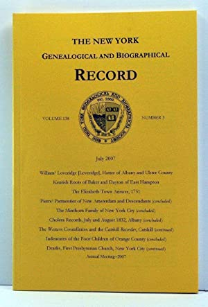 The New York Genealogical and Biographical Record, Volume 138, Number 3 (July 2007)