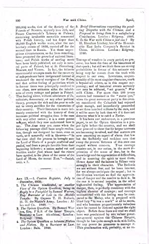 War with China [original single article from The Foreign Quarterly Review, Volume 25, Number 49 (...