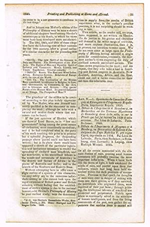 History of Printing, Foreign and Domestic [original: No Author Given