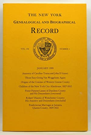 The New York Genealogical and Biographical Record, Volume 130, Number 1 (January 1999)