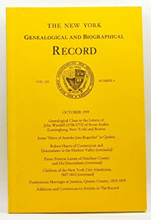 The New York Genealogical and Biographical Record, Volume 130, Number 4 (October 1999)
