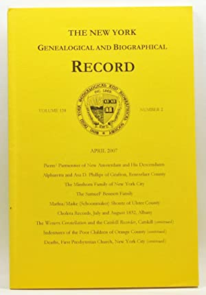 The New York Genealogical and Biographical Record, Volume 138, Number 2 (April 2007)