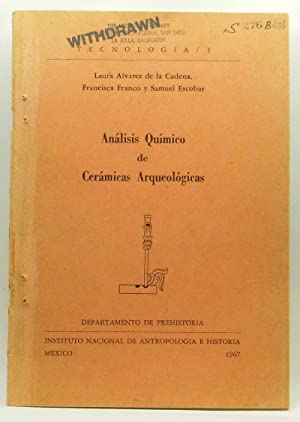 Análisis Químico de Cerámicas Arqueológicas: Alvarez De La
