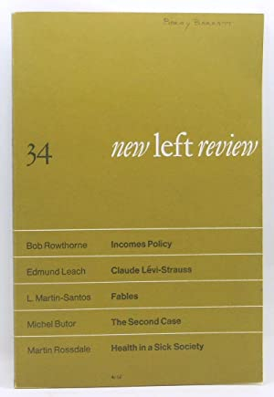 New Left Review 34 (November-December 1965): Anderson, Perry (Ed.);