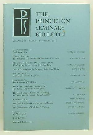 The Princeton Seminary Bulletin, Volume XXIII, Number: Crocco, Stephen D.
