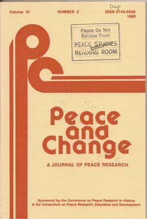 Peace and Change: A Journal of Peace: Carey, Dennis P.