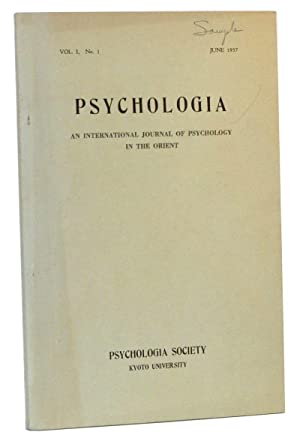 Psychologia: An International Journal of Psychology in the Orient. Vol. I, No. 1 (June 1957)