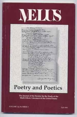 Melus: Poetry and Poetics; The Journal of: Skerrett, Joseph T.