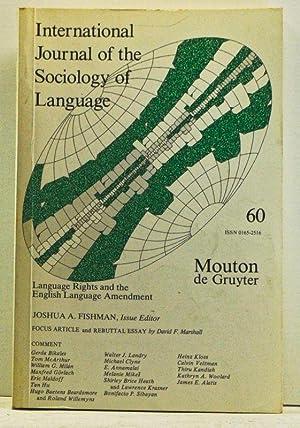 International Journal of the Sociology of Language,: Fishman, Joshua A.
