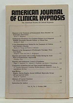 The American Journal of Clinical Hypnosis, Volume 31, Number 2 (October 1988)