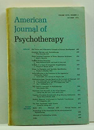 American Journal of Psychotherapy, Volume 27, Number 4 (October 1973)