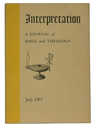 Interpretation: A Journal of Bible and Theology,: Kelly, Balmer H.
