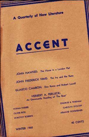 Accent: A Quarterly of New Literature (Winter, 1960)